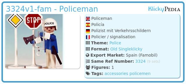 Playmobil 3324v1-fam - Policeman