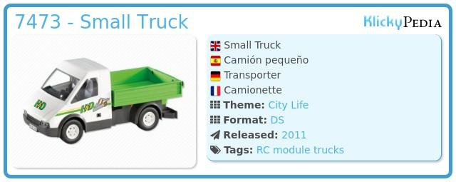 Playmobil 7473 - Small Truck