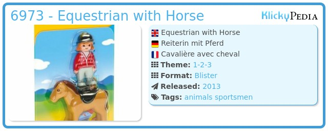 Playmobil 6973 - Equestrian with Horse