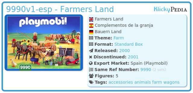 Playmobil 9990v1-esp - Farmers Land