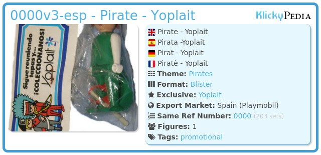 Playmobil 0000v3-esp - Pirate - Yoplait