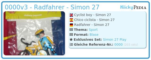 Playmobil 0000v3 - Radfahrer - Simon 27