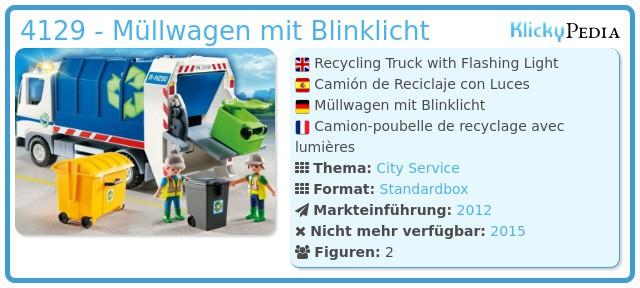 Playmobil 4129 - Müllwagen mit Blinklicht