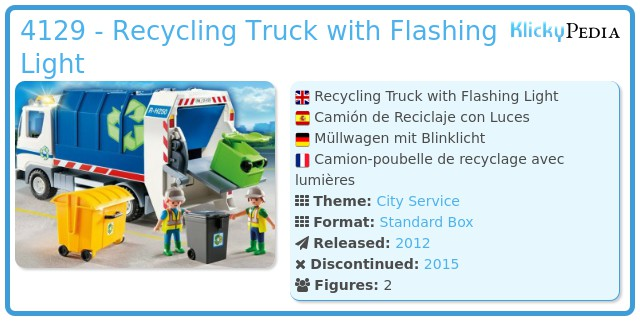 Playmobil 4129 - Recycling Truck with Flashing Light