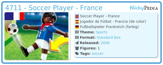 Playmobil 4711 - Soccer Player - France