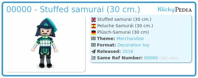 Playmobil 00000 - Stuffed samurai (30 cm.)
