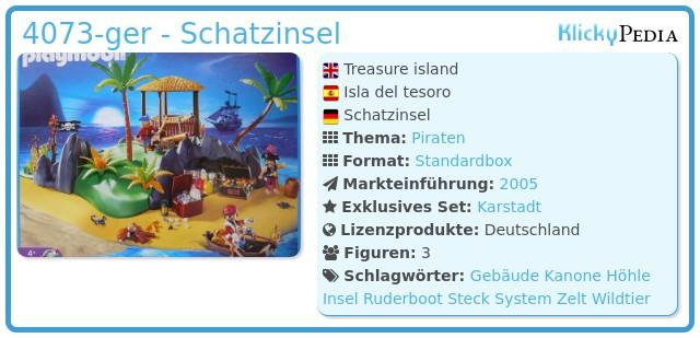 Playmobil 4073-ger - Schatzinsel