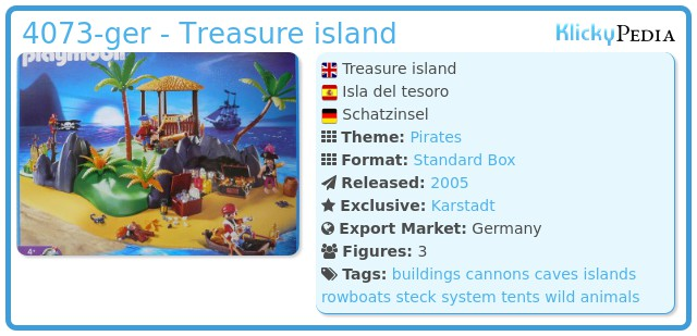 Playmobil 4073-ger - Treasure island