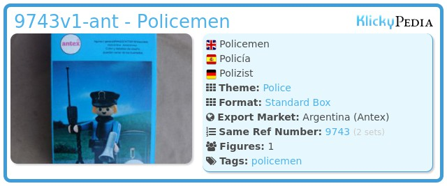 Playmobil 9743v1-ant - Policemen