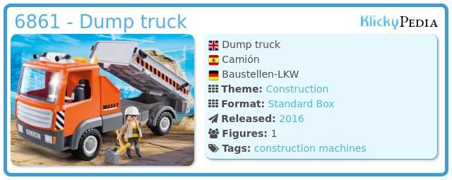 Playmobil 6861 - Dump truck
