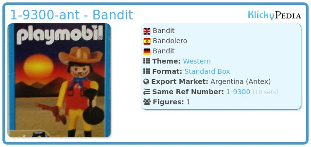 Playmobil 1-9300-ant - Bandit