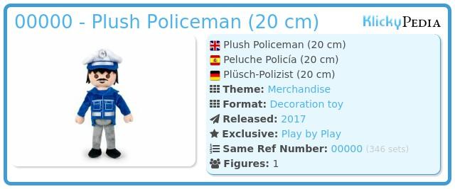 Playmobil 00000 - Stuffed Policeman (20 cm.)
