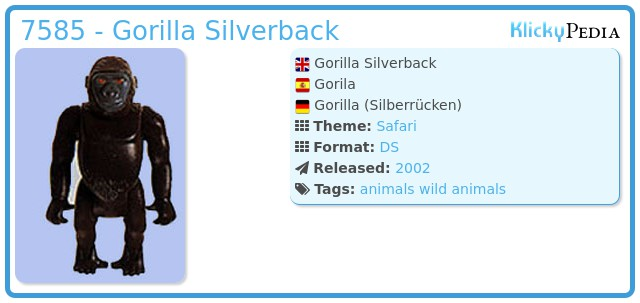 Playmobil 7585 - Gorilla Silverback