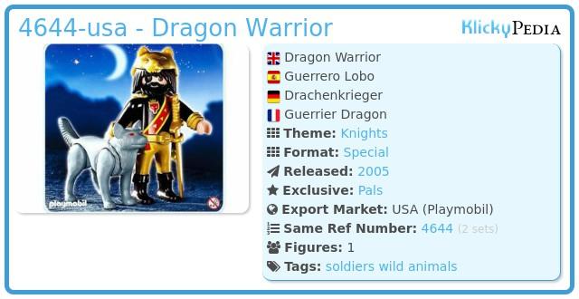 Playmobil 4644-usa - Dragon Warrior
