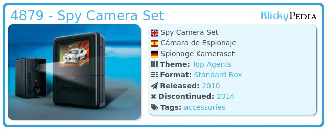 Playmobil 4879 - Spy Camera Set