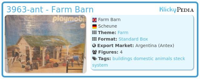 Playmobil 3963-ant - Farm Barn