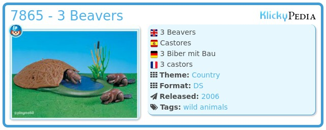 Playmobil 7865 - 3 Beavers
