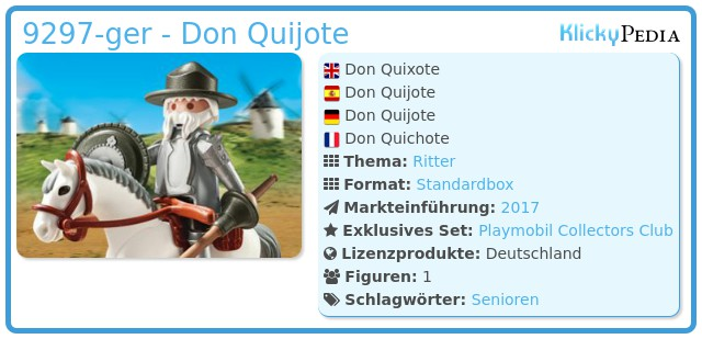 Playmobil 9297-ger - Don Quijote