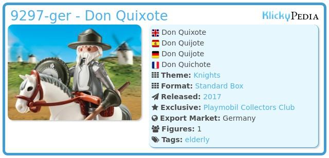 Playmobil 9297-ger - Don Quixote