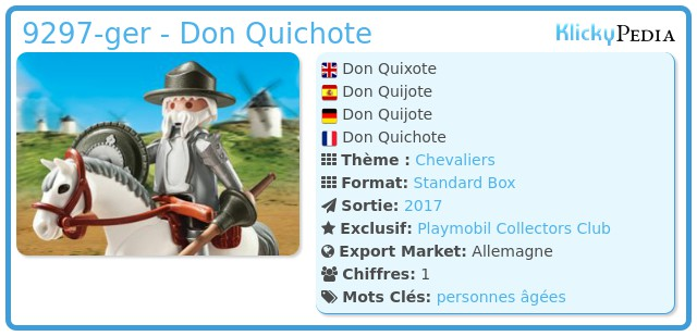 Playmobil 9297-ger - Don Quichote