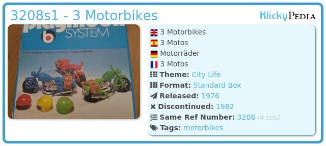 Playmobil 3208s1 - 3 Motorbikes