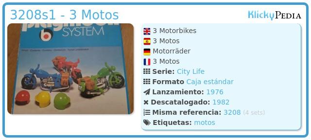 Playmobil 3208s1 - 3 Motos