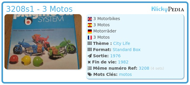 Playmobil 3208s1 - 3 Motos