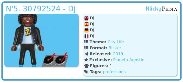 Playmobil N'5. 30792524 - Dj