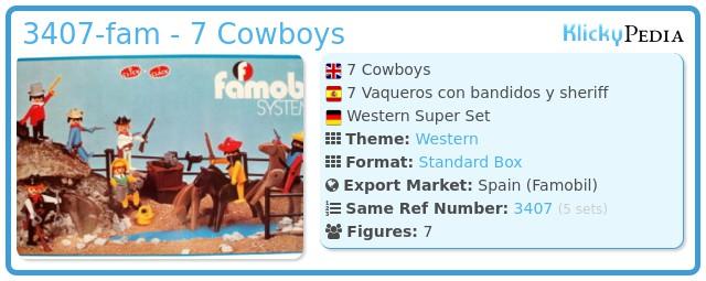 Playmobil 3407-fam - 7 Cowboys