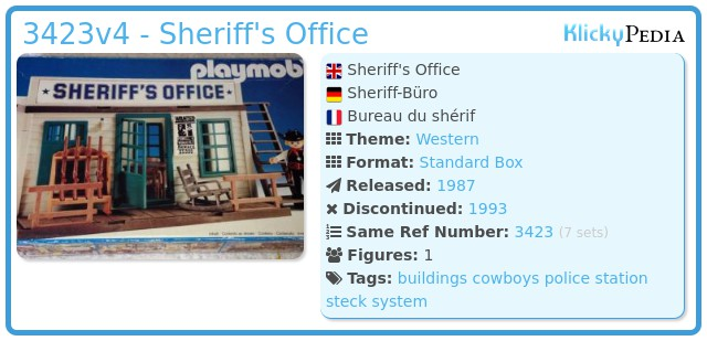 Playmobil 3423v4 - Sheriff's Office