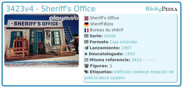 Playmobil 3423v4 - Sheriff's Office
