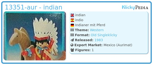 Playmobil 13351-aur - indian