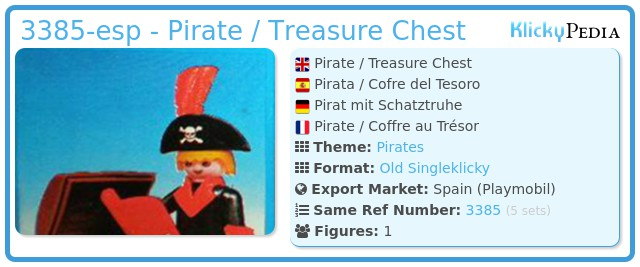 Playmobil 3385-esp - Pirate / Treasure Chest