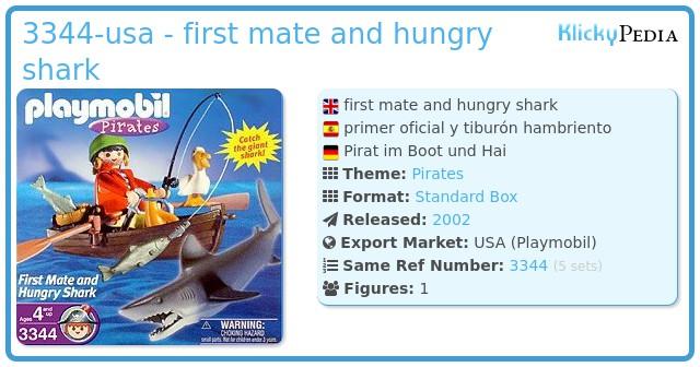 Playmobil 3344-usa - first mate and hungry shark