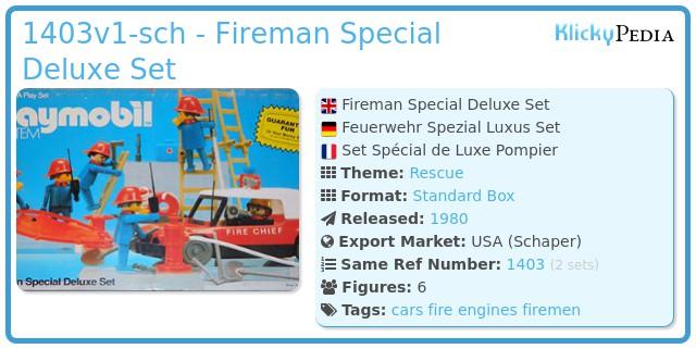 Playmobil 1403-sch - Fireman Special Deluxe Set