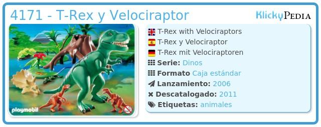 Playmobil 4171 - T-Rex y Velociraptor