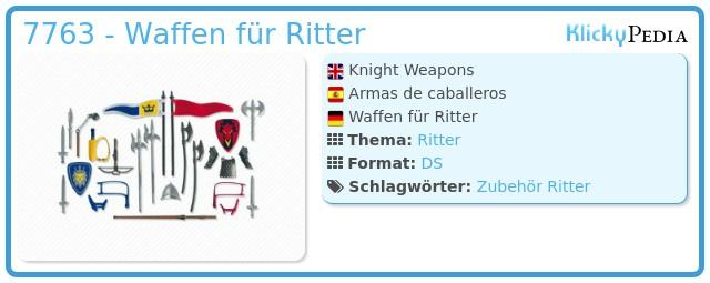 Playmobil 7763 - Waffen für Ritter