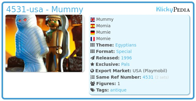 Playmobil 4531-usa - Mummy