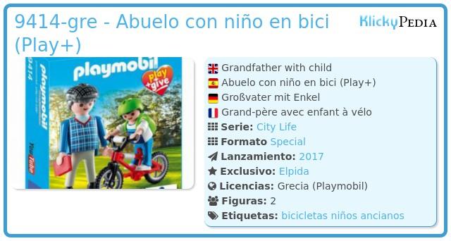 Playmobil 9414-gre - Abuelo con niño en bici (Play+)