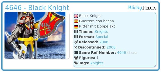 Playmobil 4646 - Black Knight