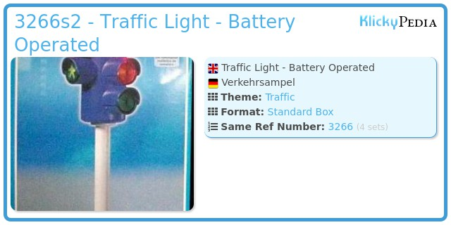 Playmobil 3266s2 - Traffic Light  - Battery Operated