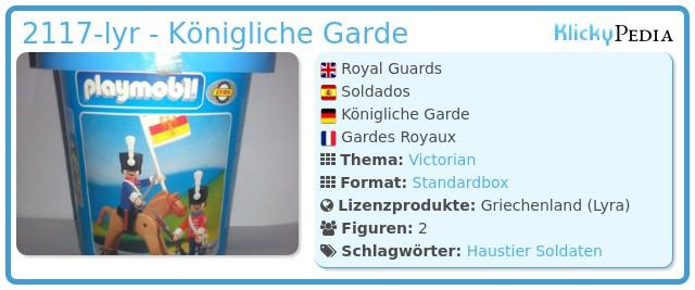 Playmobil 2117-lyr - Königliche Garde