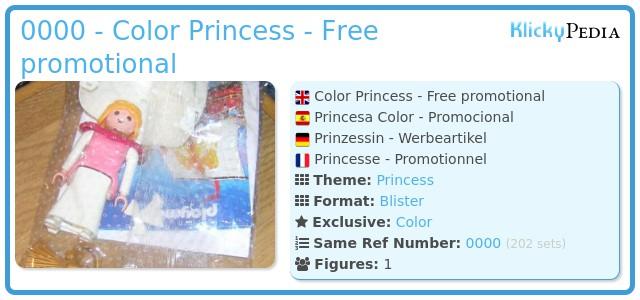Playmobil 0000 - Color Princess - Free promotional