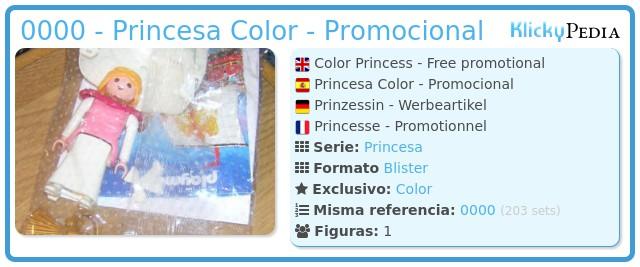 Playmobil 0000 - Princesa Color - Promocional