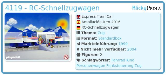 Playmobil 4119 - RC-Schnellzugwagen