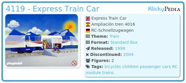Playmobil 4119 - Express Train Car