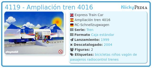 Playmobil 4119 - Ampliación tren 4016