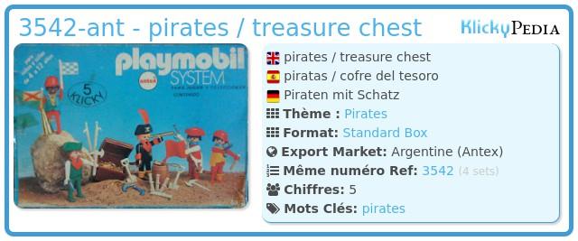 Playmobil 3542-ant - pirates / treasure chest