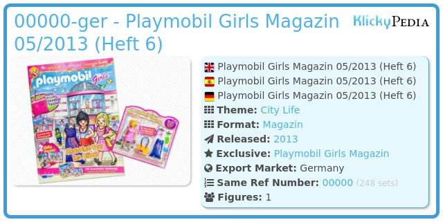 Playmobil 00000-ger - Playmobil Girls Magazin 05/2013 (Heft 6)