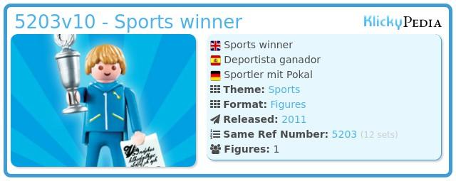 Playmobil 5203v10 - Sports winner